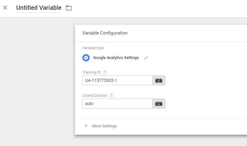 gtm add google analytics variable