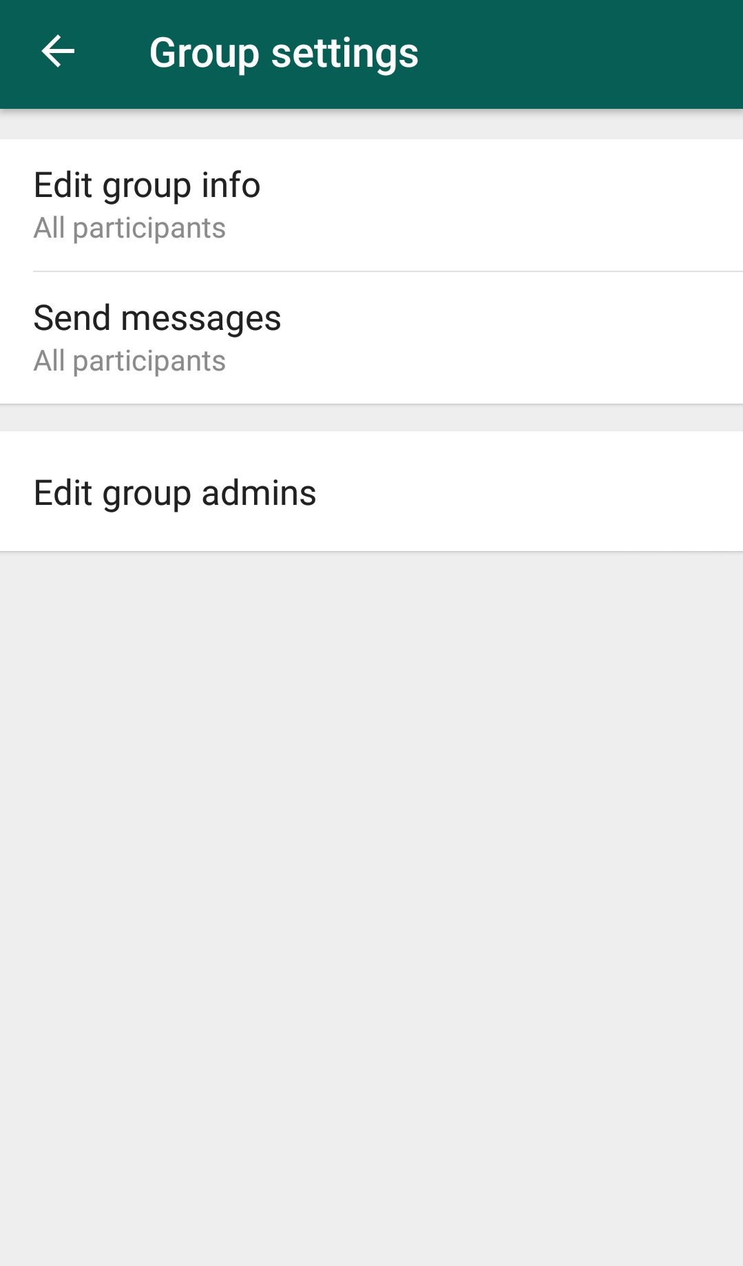 Who can Edit the Group Name in WhatsApp