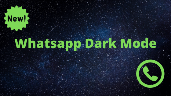Whatsapp darkmode is safe to eyes and also is a power saving mode