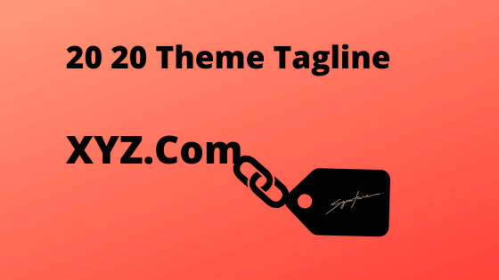 It is pretty simple to change a website's tagline on 20 20 theme