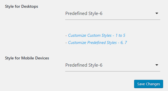 predefined style 6